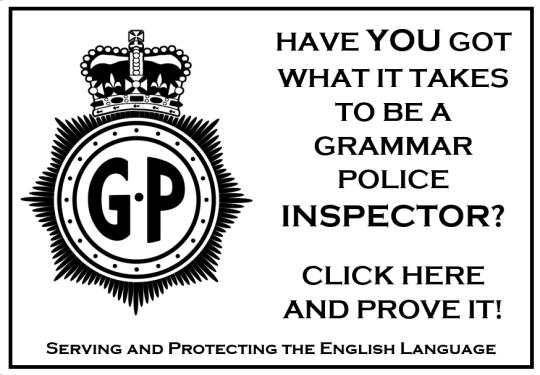 Grammar Police Inspector Link