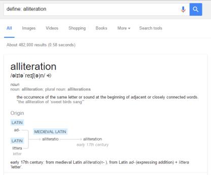 Define Alliteration